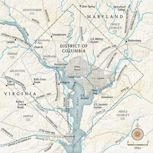 Dc Maps Educational Articles And Resources Pinterest: Map Of Washington Dc In 1860 At Usa Maps