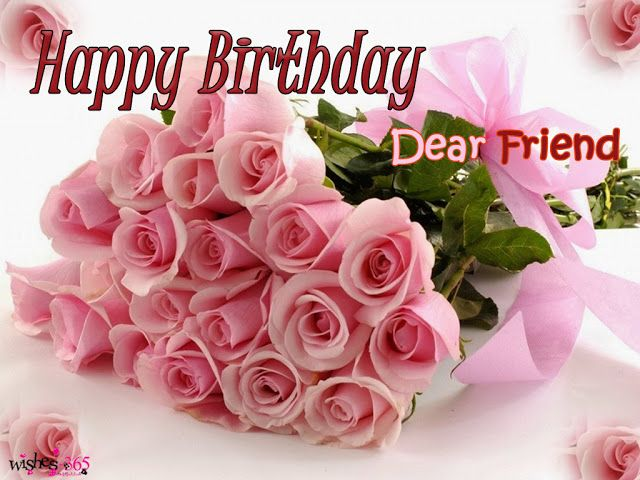 Poetry And Worldwide Wishes Happy Birthday For Best Friend With Flowers