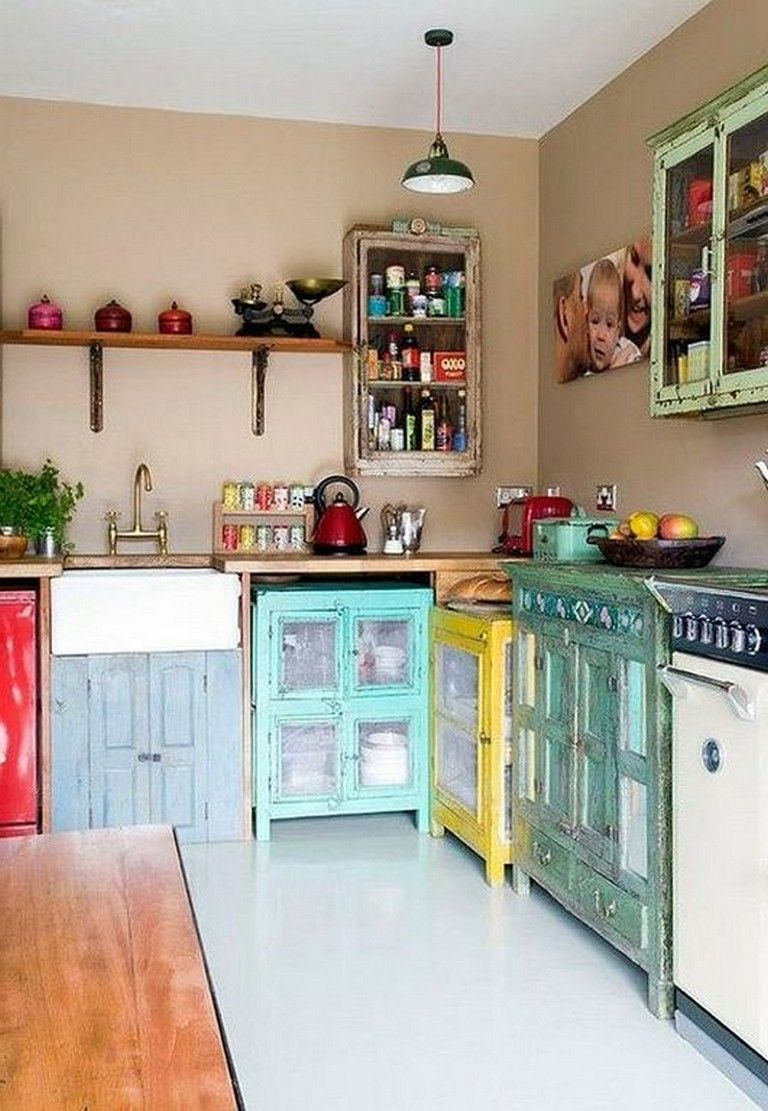 42 fabulous vintage kitchen cabinet designs with rustic style with images quirky kitchen on outdoor kitchen vintage id=67030
