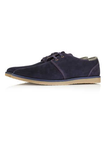 Navy Suede Desert Shoes