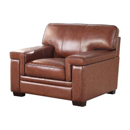 Fine Sander Brown Top Grain Leather Armchair Products Machost Co Dining Chair Design Ideas Machostcouk