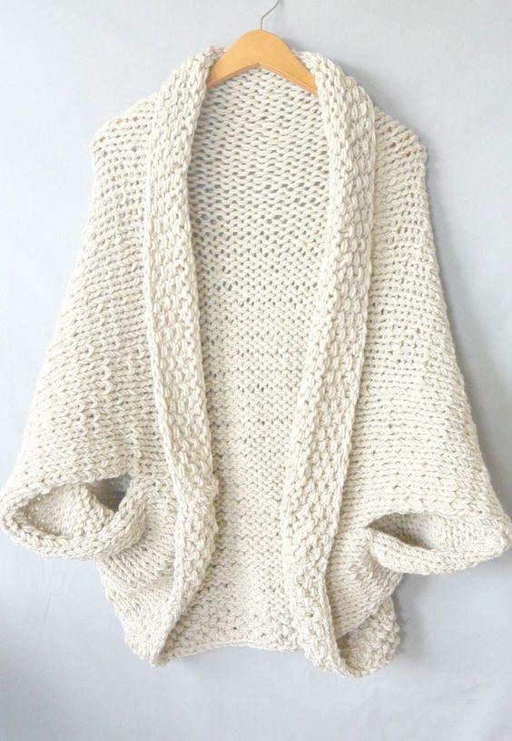 Easy Knit Blanket Sweater Pattern Pinterest Free Pattern