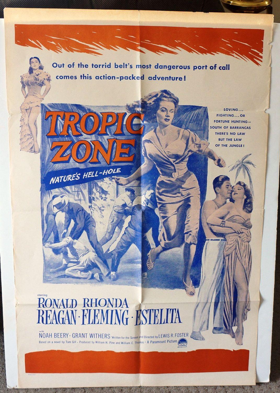 "Movie Poster ""Tropic Zone"" Original RARE 1953 Movie Poster"