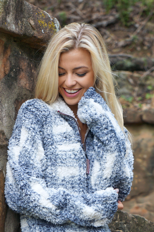 True Grit Frosty Tip Fleece Pullover Women S Fashion