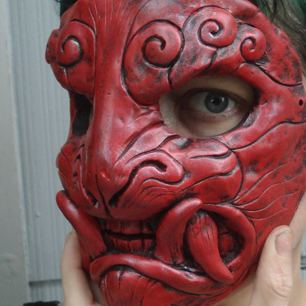 Red lacquer mask by missmonster on DeviantArt