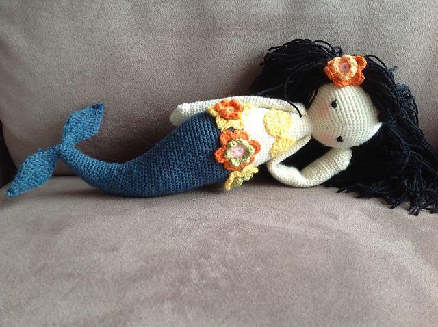 "Ravelry: ""MICI"" - lalylala crochet pattern N° XI - Mermaid pattern by Lydia Tresselt"