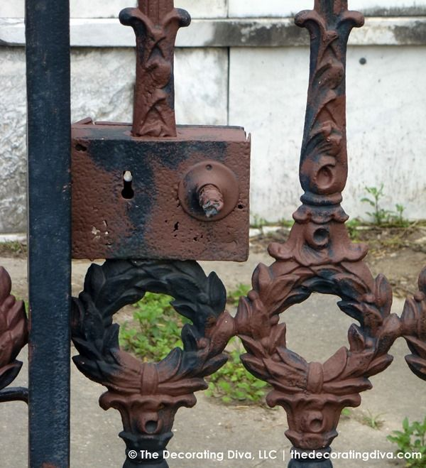 Ironwork Details Lafayette Cemetary New Orleans The Decorating Diva Llc Fancy Fence New Orleans Cemetery Art