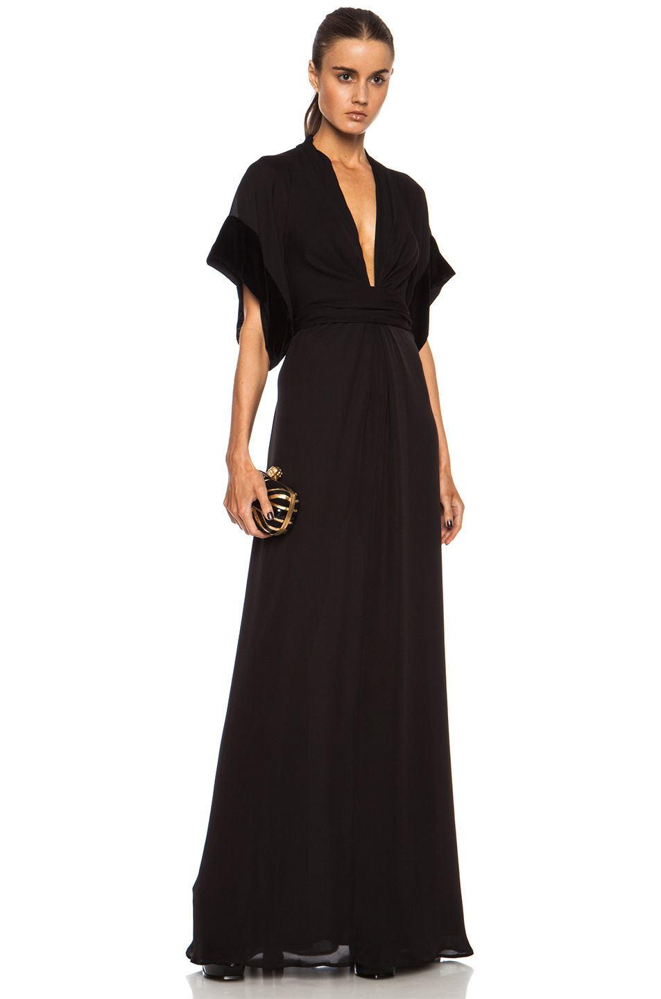 Gorgeous issa pollyanna knot front maxi silk dress maybelle