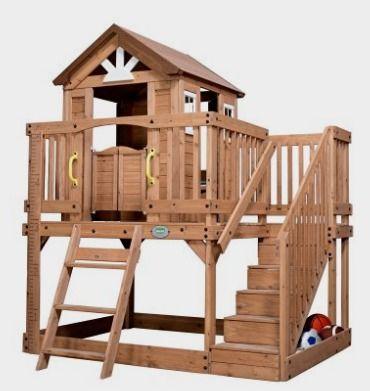 Backyard Discovery Scenic Heights All Cedar Playhouse ...
