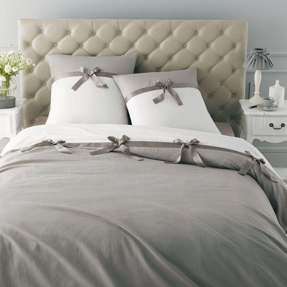 Copripiumino Matrimoniale Maison Du Monde.Tete De Lit Capitonnee En Lin L 160 Cm Maisons Du Monde Bed Cover Design Romantic Bedroom Decor Bed Decor