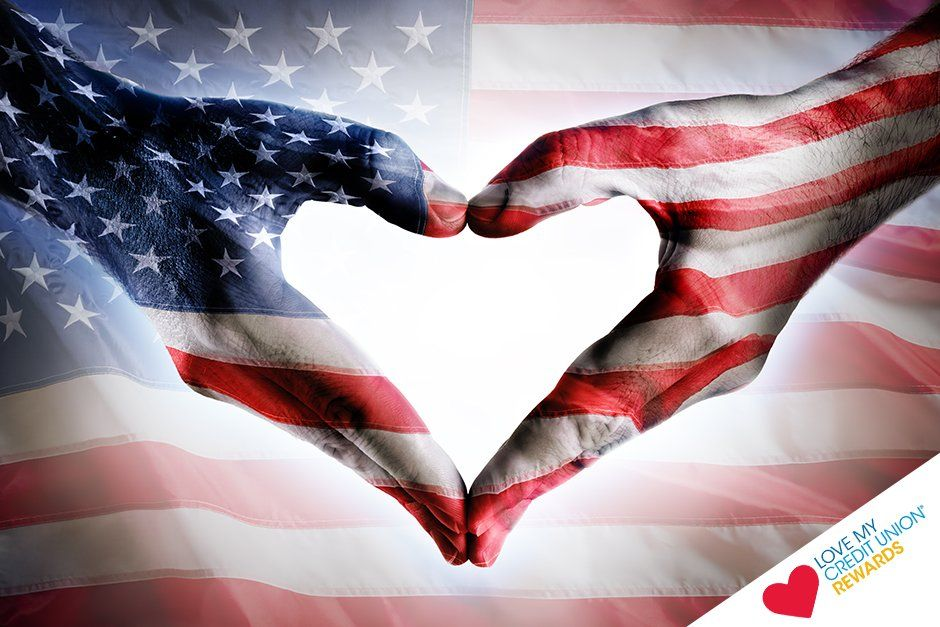 Love My Credit Union On Twitter Usa Flag Art Free Art Prints Flag Art