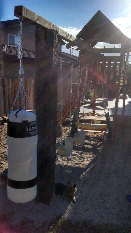 Pin By Shane Pruitt On Punching Bags In 2019 Backyard Gym