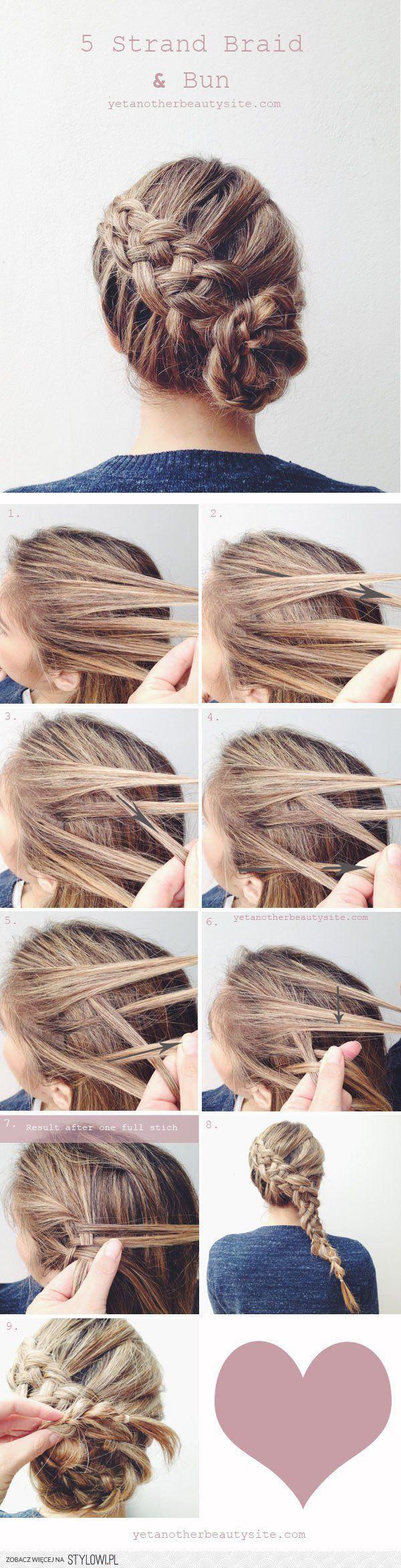 Warkocz z części na stylowi hair pinterest