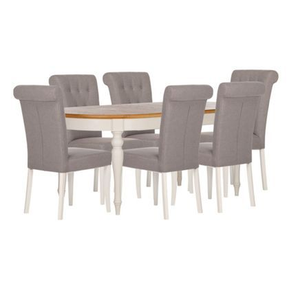 Schreiber Chalbury 6 8 Seater Extendable Dining Table with 6 Upholstered  ChairsSchreiber Chalbury 6 8 Seater Extendable Dining Table with 6  . Adaline Walnut Extendable Dining Table And 6 Chairs. Home Design Ideas