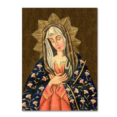 """World Menagerie The Virgin II Painting Print on Wrapped Canvas Size: 24"""" H x 18"""" W x 2"""" D"""