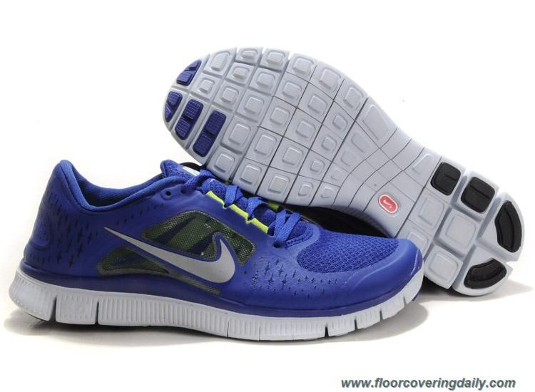 Men's 510642-400 Nike Free Run 3 Deep Royal Blue Reflect Silver Sail Volt  Online