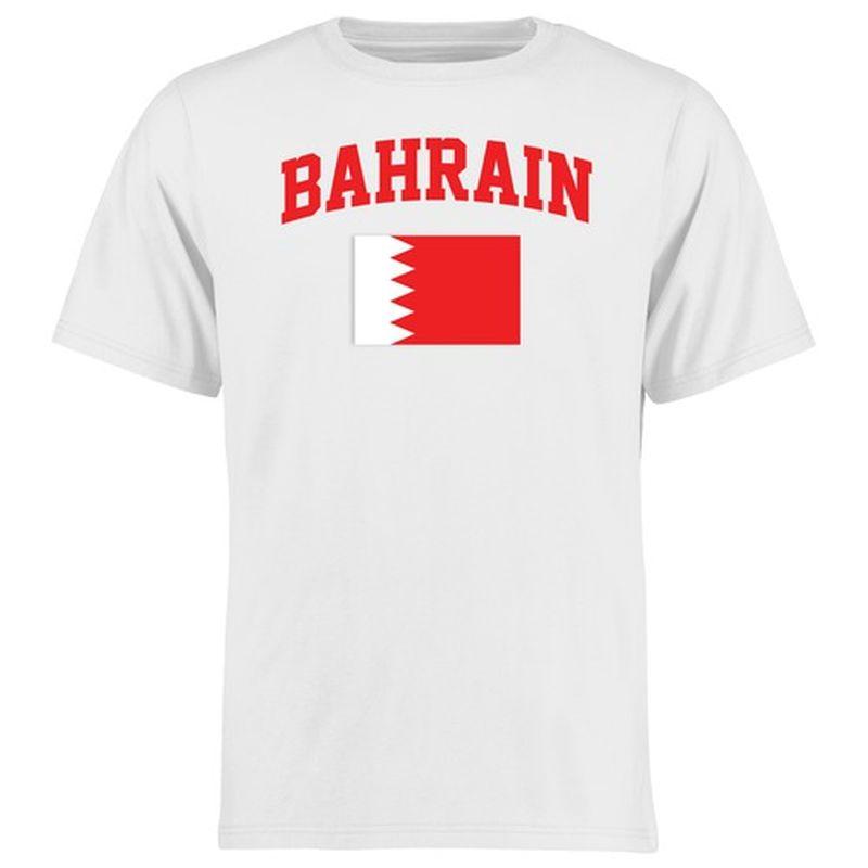 Bahrain Flag T-Shirt - White