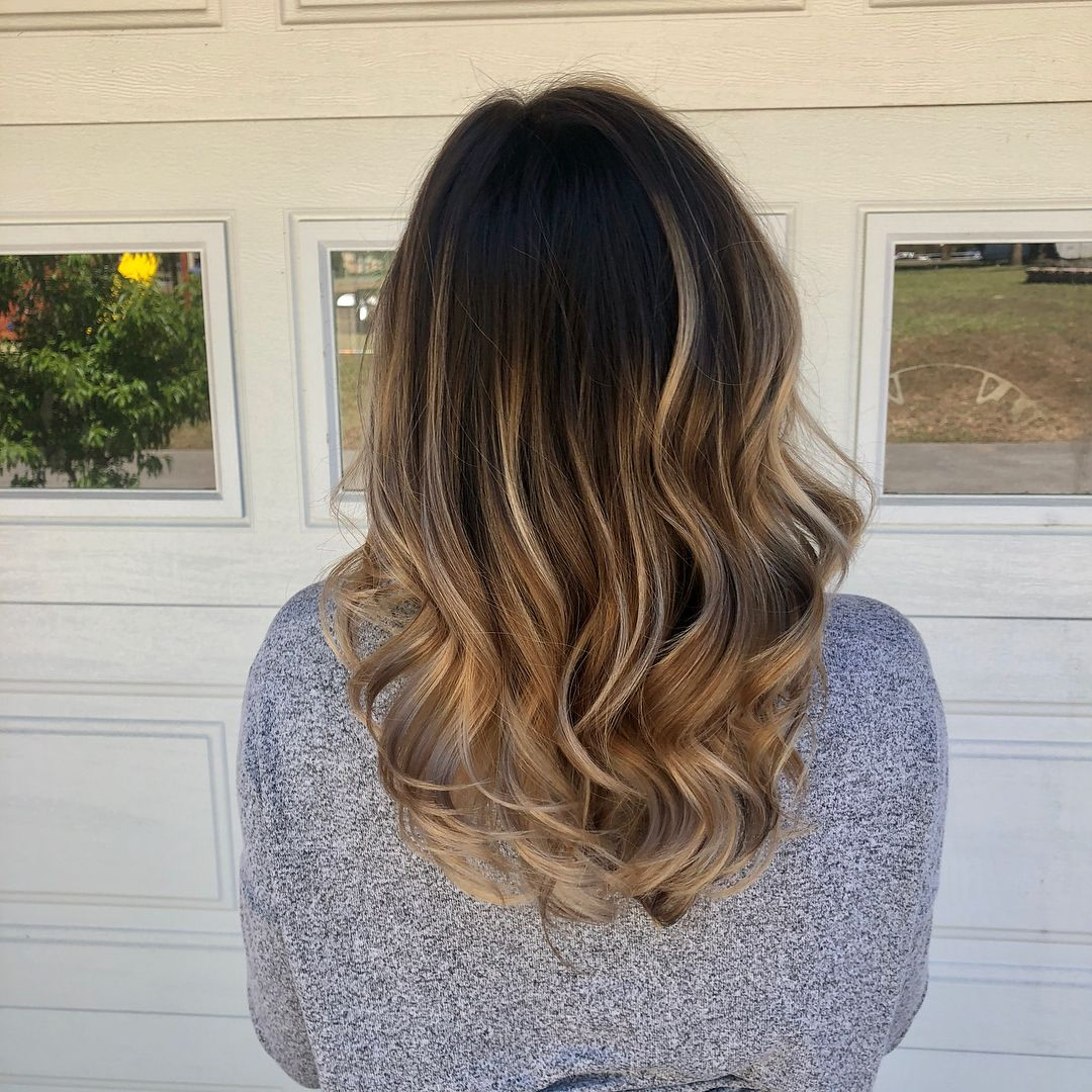 Spring is growing on us!! balayage behindthechair