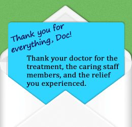 how to write a thank you letter to a doctor