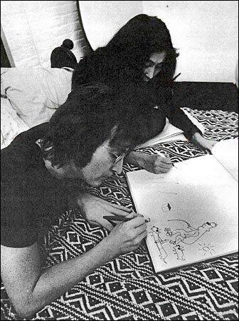 119 best Luke's art images on Pinterest | Rembrandt |Sketches John Lennon And Yoko Ono