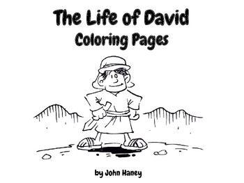 The Life Of David Coloring Pages King DavidBible