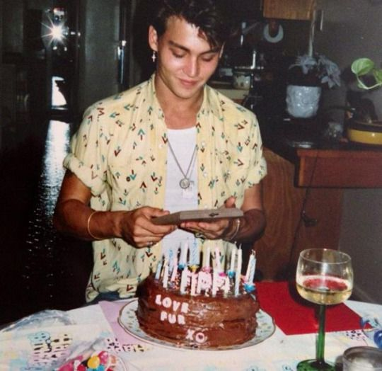 Johnny Depp On His 20th Birthday In 1983 With Images Johnny