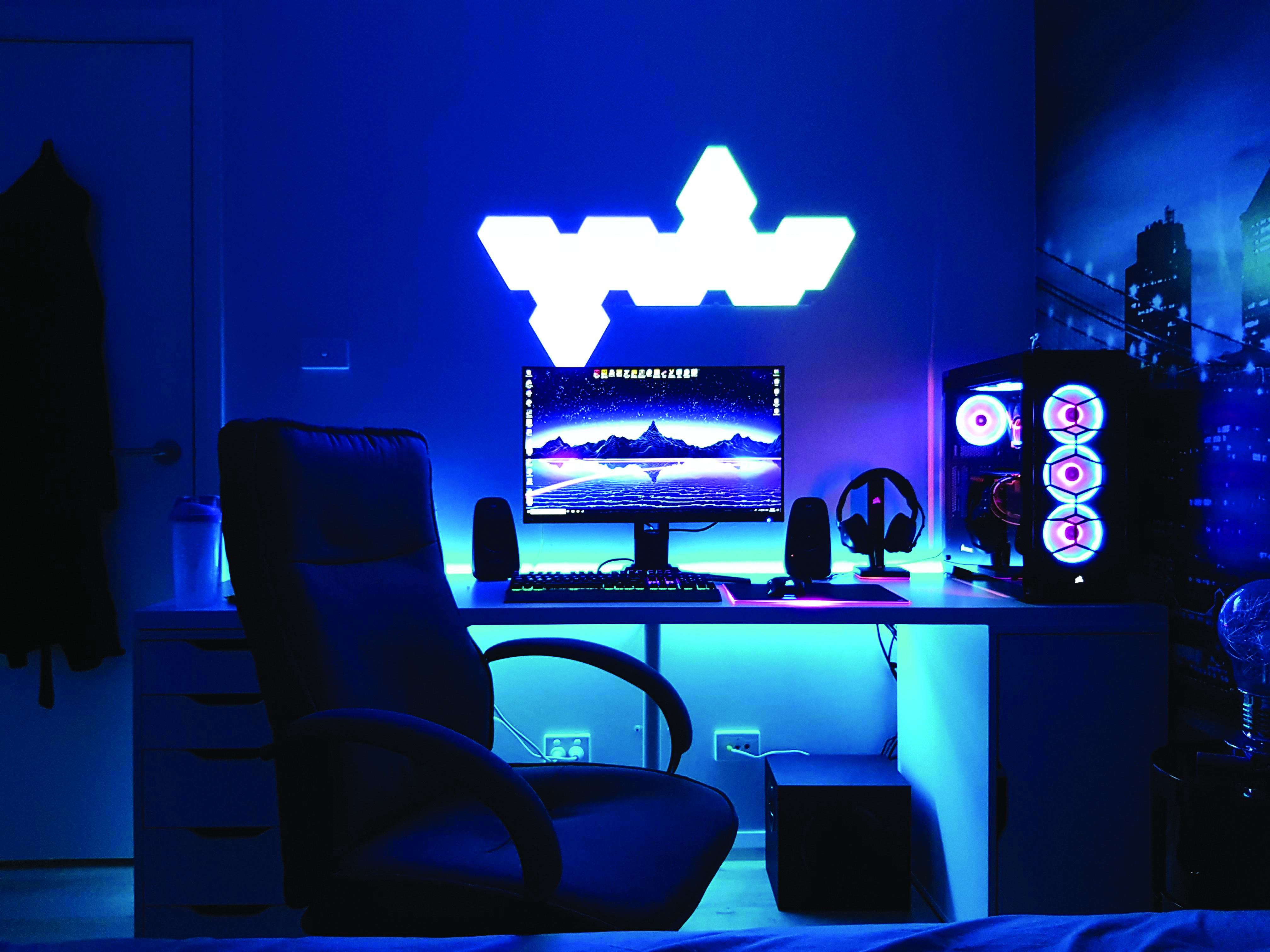 Gaming Computer Desk Video Game Rooms Gaming Computer