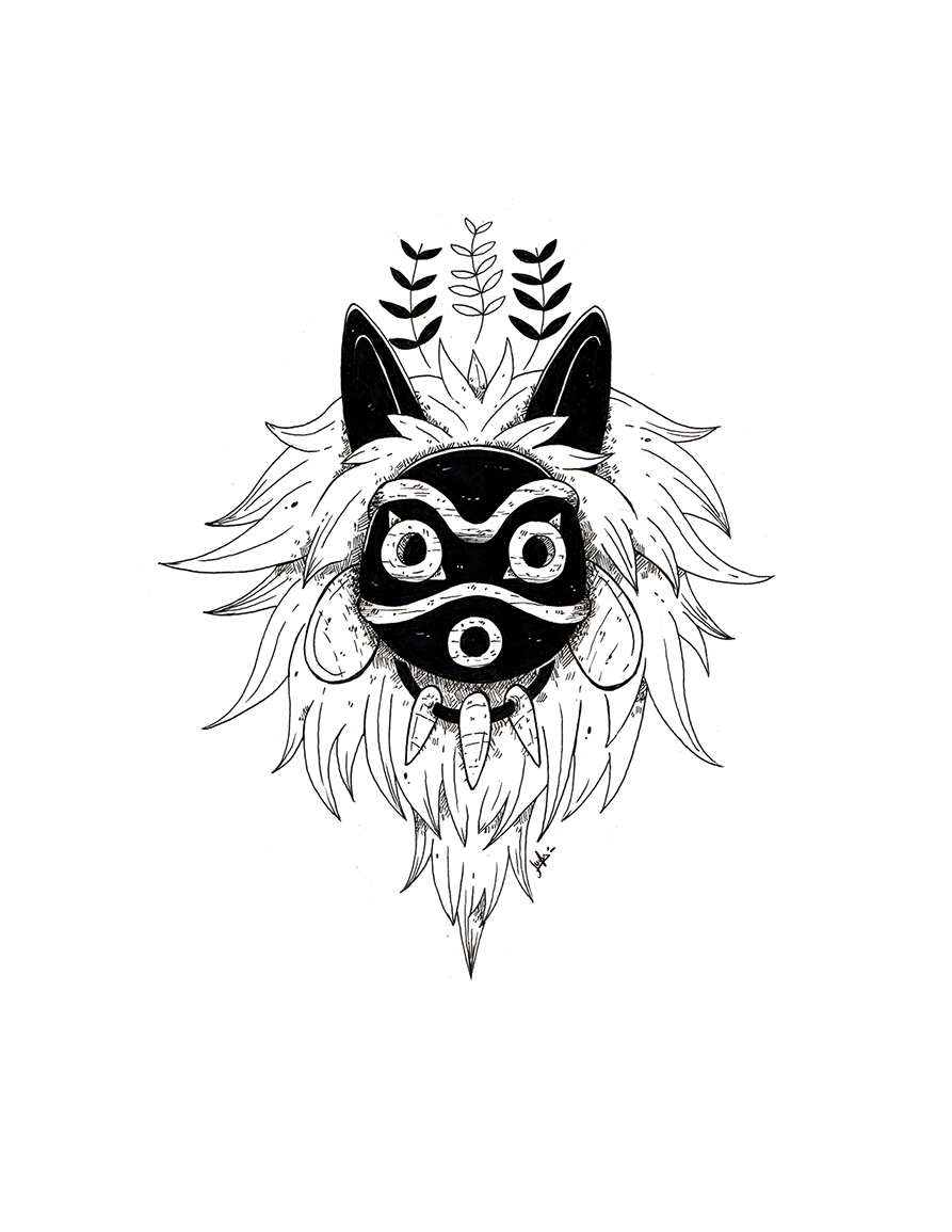 Mask Mononoke Tumblr Studio Ghibli Tattoo Ghibli Tattoo Studio Ghibli Art