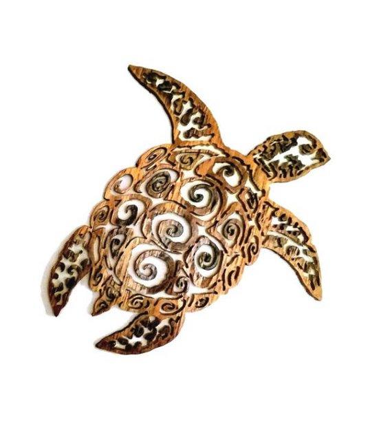 Sea Turtle Wall Art Wooden Sea Turtle Sea Turtle Sculpture Sea