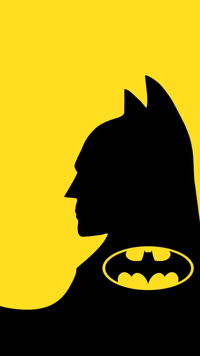 Art Creative Batman Logo Movie Superhero Black Yellow HD IPhone Wallpaper