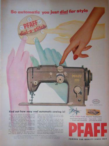 1950s-Pfaff-sewing-machine-pattern-retro-ORIGINAL-vintage-print-ad-advertisement