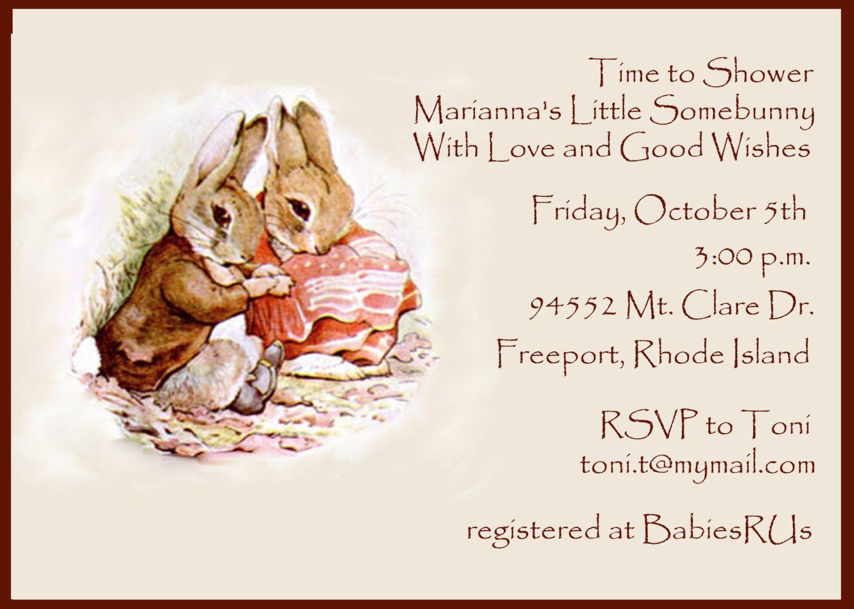 Baby Shower Invitation Beatrix Potter by celebrationspaperie, $11.00 ...