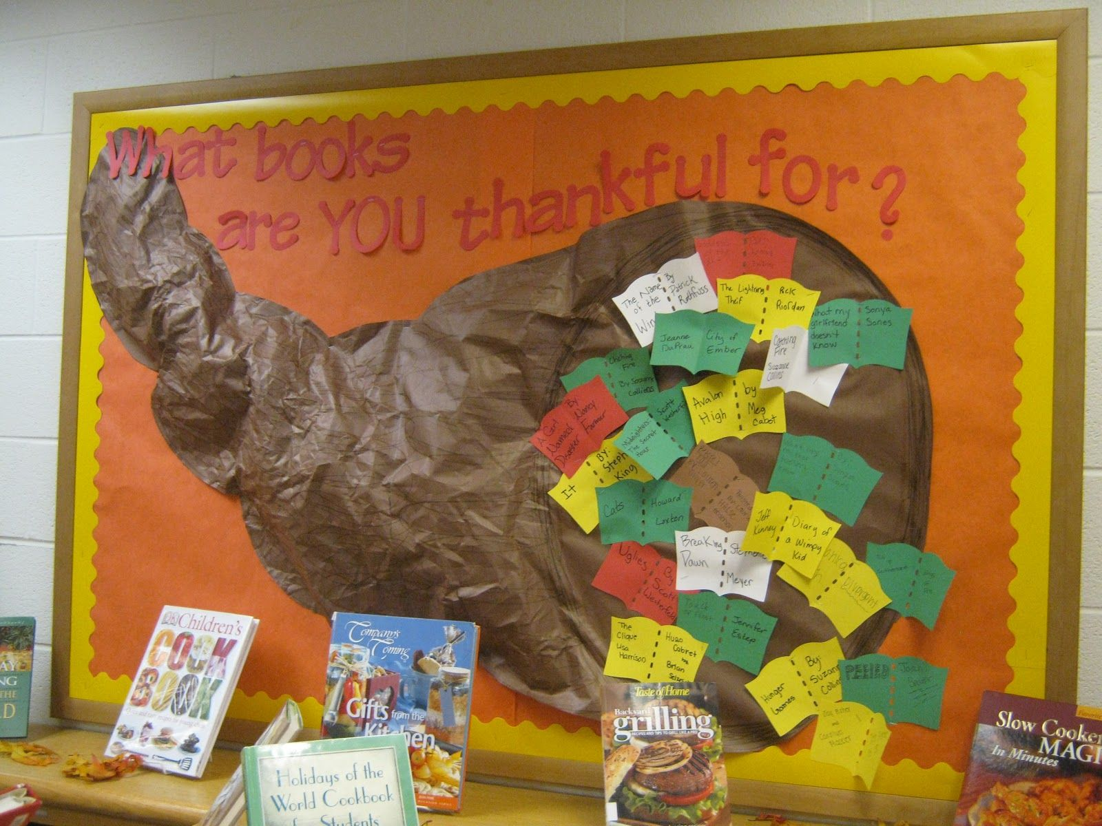 Thanksgiving Library Bulletin Board
