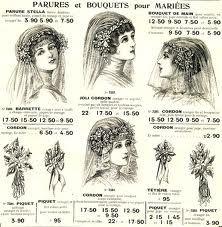 brocante en ligne ancienne couronne de mari e en fleur de cire 1900 romantique antiquit s. Black Bedroom Furniture Sets. Home Design Ideas