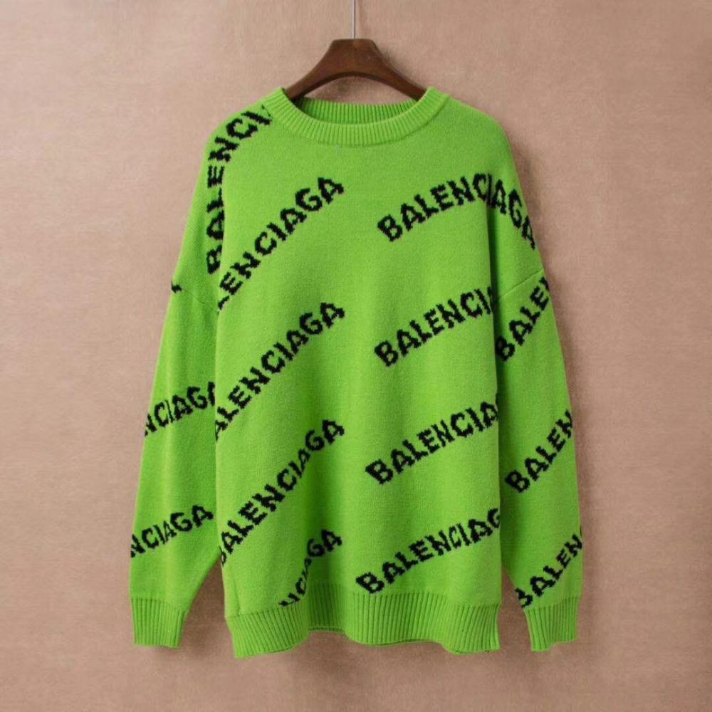 Black And Neon Green Sweatshirt