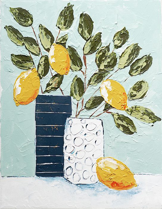 Lemons in vases by Jennifer Cupp