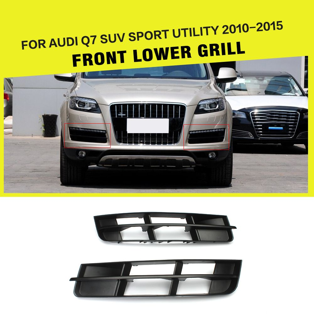 Q7 Black Abs Mesh Front Bumper Lower Grill Grille For Audi Q7 Suv