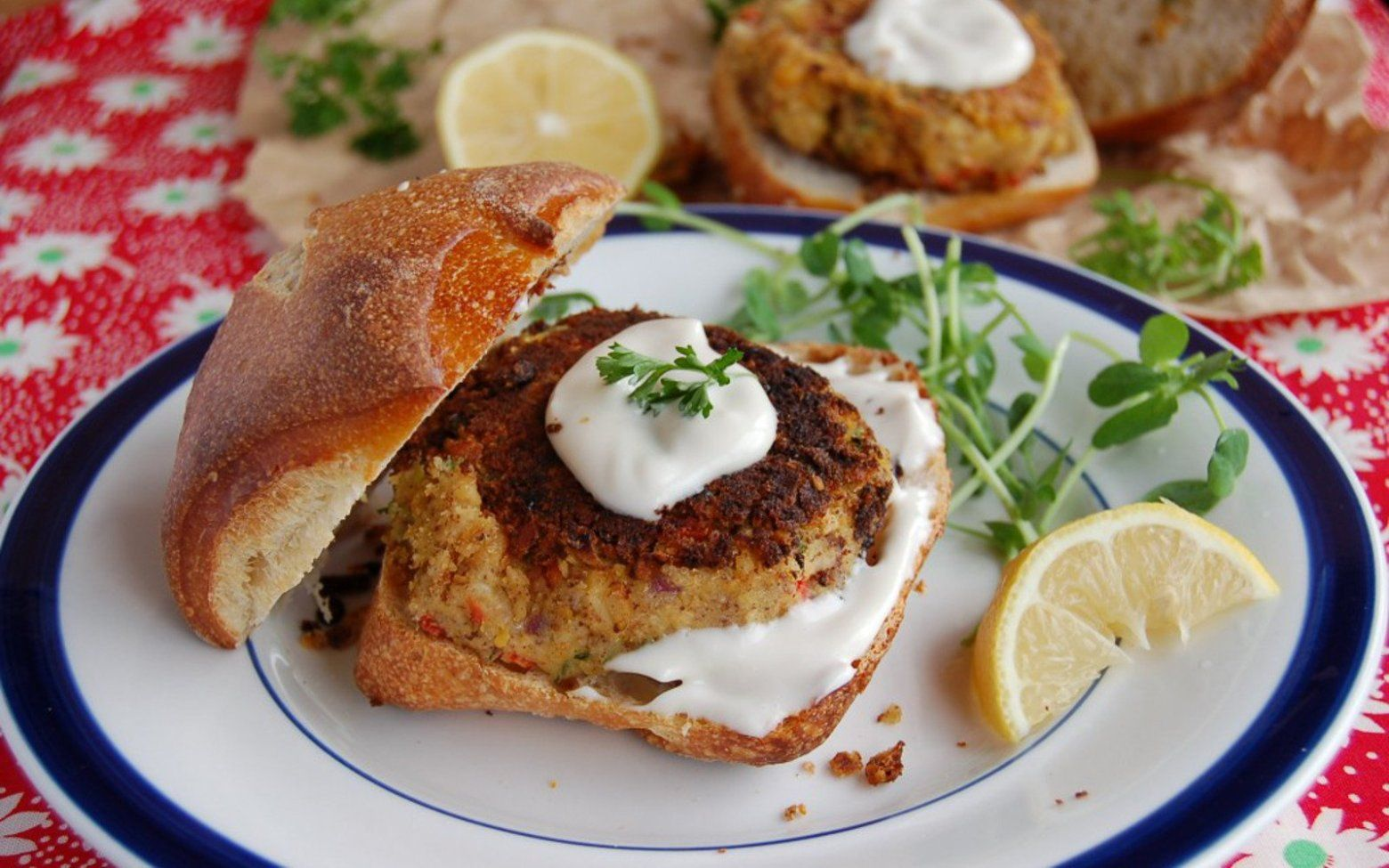 These crispy chickpea crab cakes are easy to whip up and
