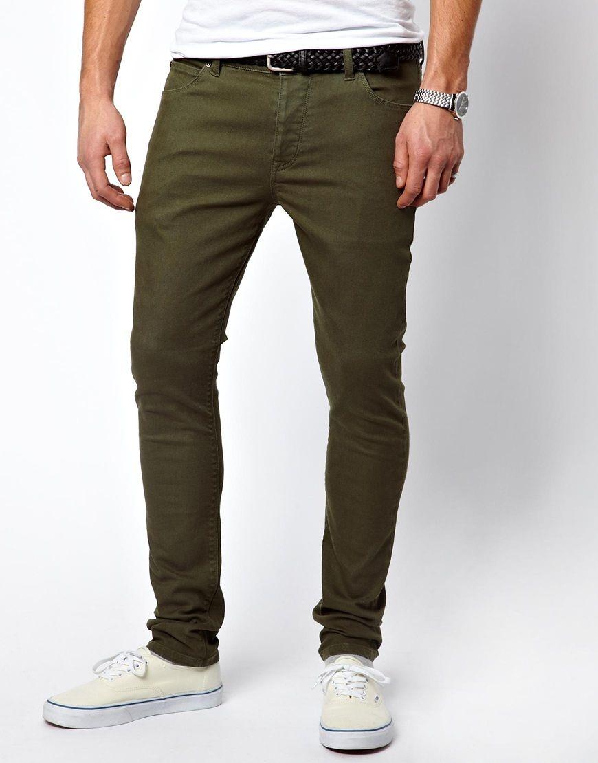 ASOS Super Skinny Jeans - Dark Green