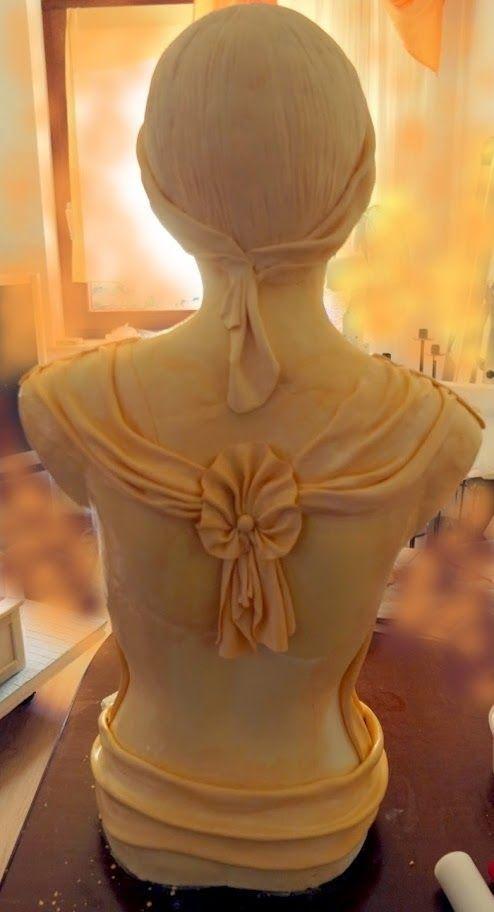 Statue Woman Girls Fondant Cake Frau Aus Zucker Meine Torte Cake