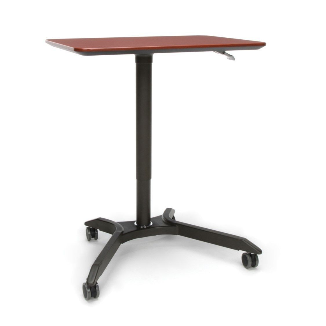 OFM Mesa Height Adjustable Mobile Podium Cherry (Home Office Desk), Brown