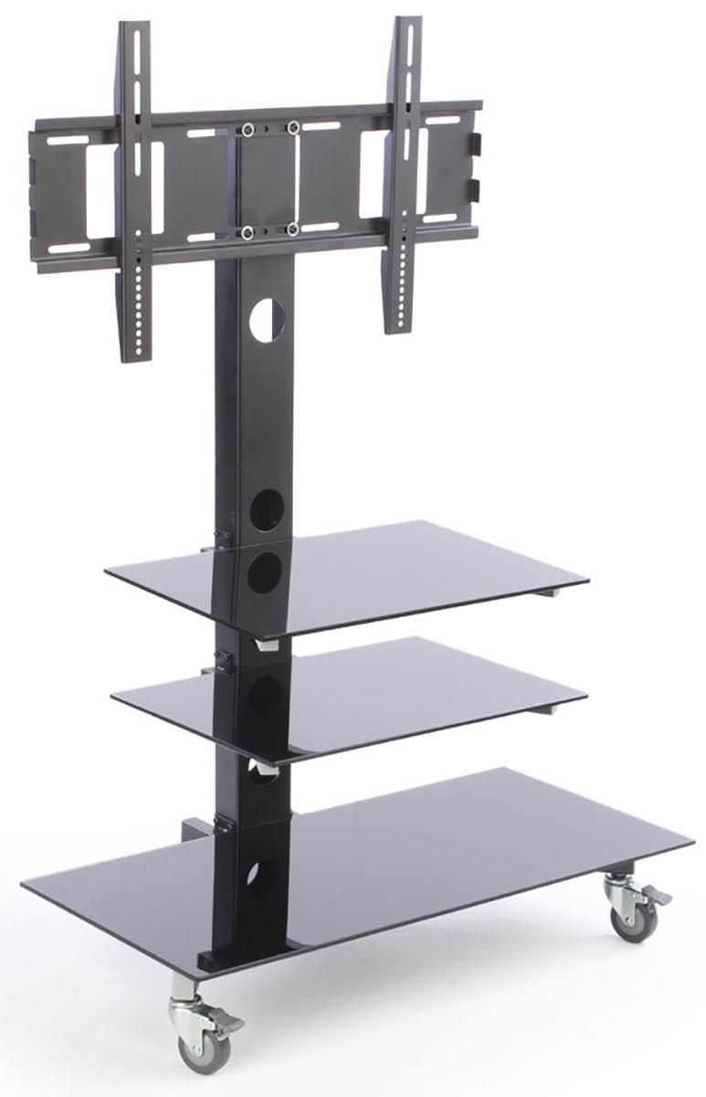 Tv Stand For Floor With Glass Shelves Fits Monitors 32 65 Inch