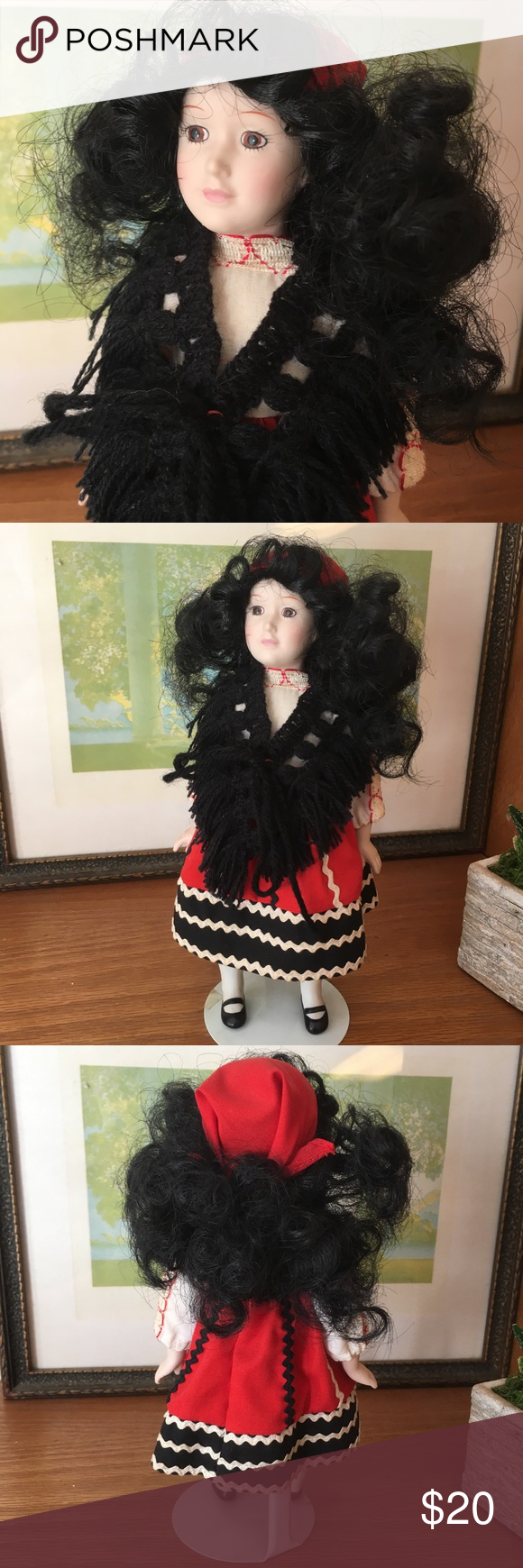"Danbury Mint Bride Doll Rosa of Portugal 9"" Danbury Mint Bride Doll ""Rosa of Portugal"" doll. Very good vintage condition. Vintage Accents Decor #bridedolls"