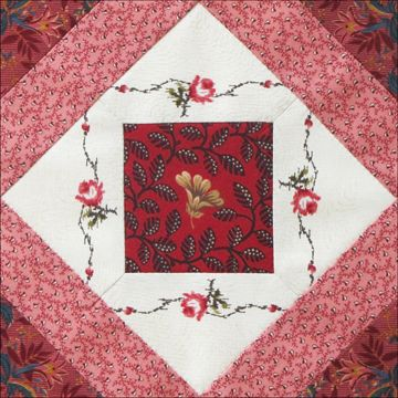 Civil War Quilts-Confederate Rose