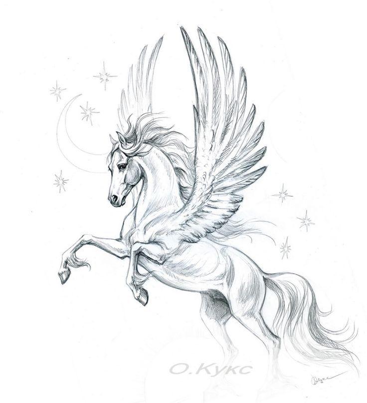 Image result for pegasus | prints | Pinterest | Pegasus tattoo ...