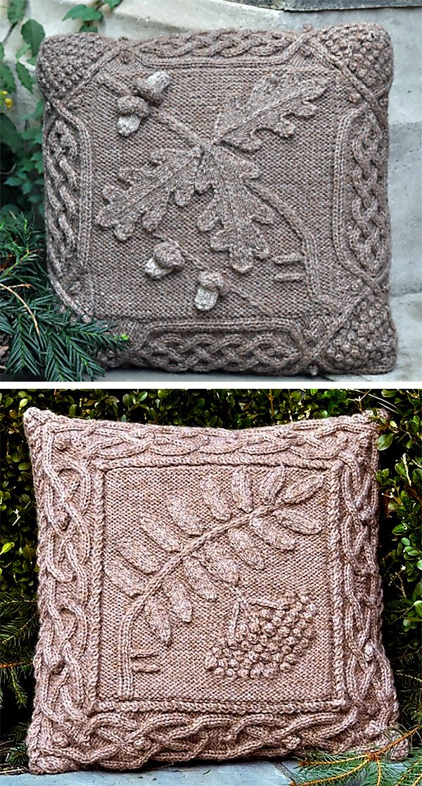 Celtic Oak Pillow | Pinterest | Leaf design, Rowan and Knitting patterns