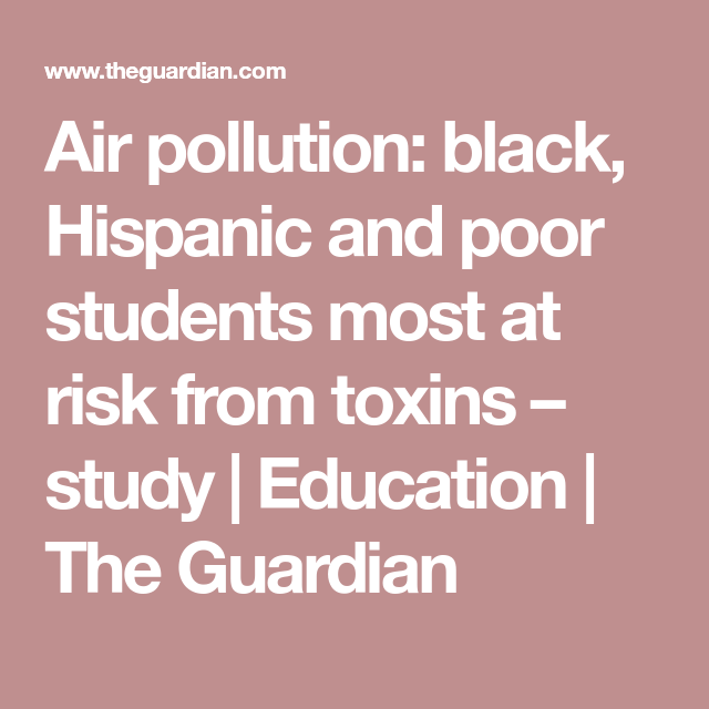 Air Pollution Black Hispanic And Poor >> Asthma Inhalers Fail Minority Children Due To A Lack Of Diversity In