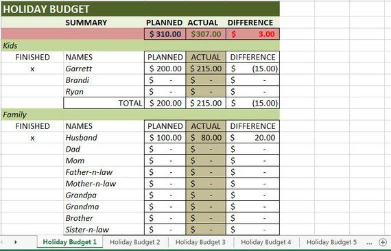 Christmas Budget Spreadsheet Pinterest Christmas budget and Products