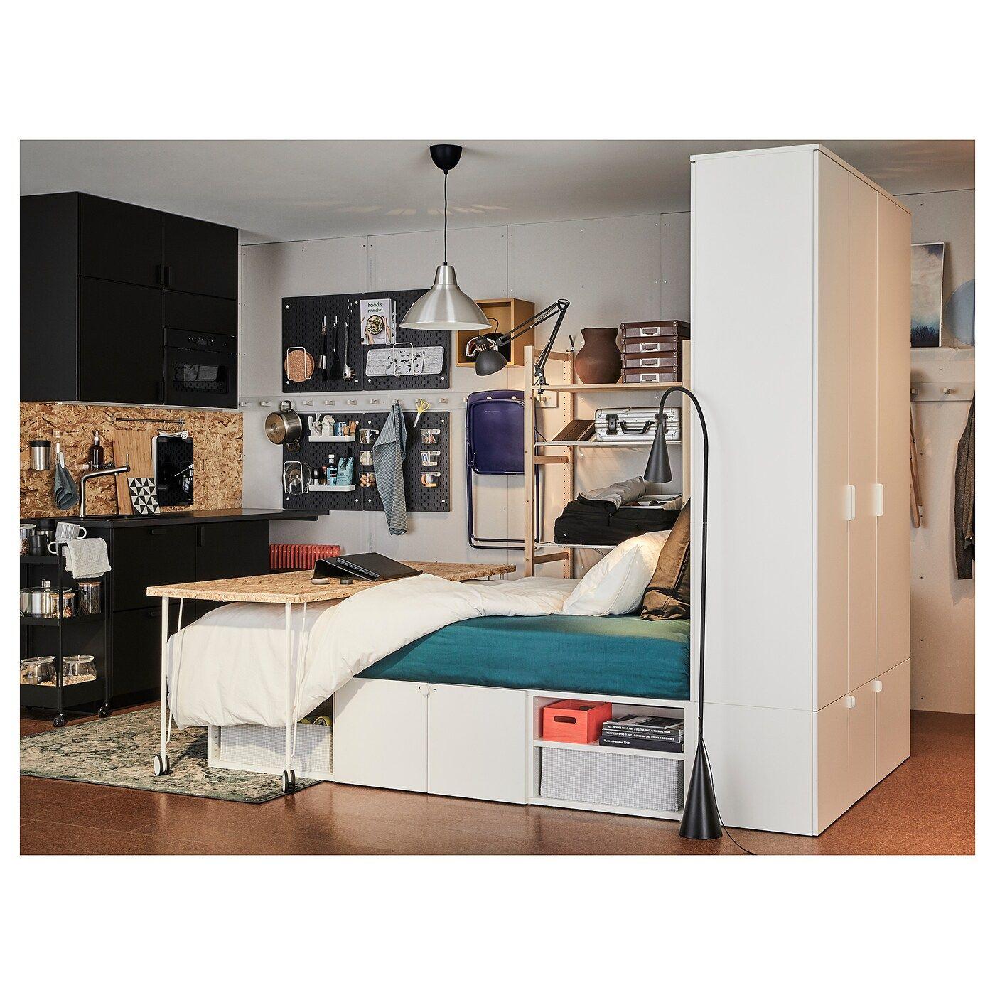 PLATSA Bettgestell mit 10 Türen weiß IKEA Deutschland