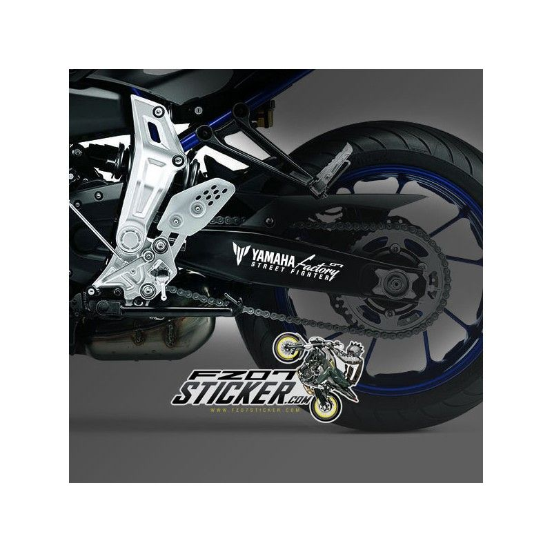 One custom 07 swingarm sticker design for the yamaha fz 07 and custom cut to